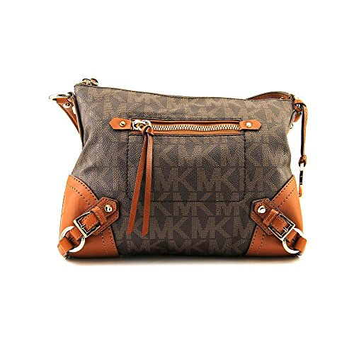 71425681e6865f Michael Kors Fallon Women's Logo Messenger Crossbody Handbag ...
