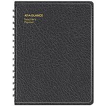 "AT-A-GLANCE Teacher's Planner, 8-1/4"" x 10-7/8"", Undated, Plan Book, Black (8015505)"