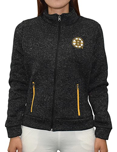 NHL Womens BOSTON BRUINS Pro Quality Zip-Up Polar Fleece Fall / Winter Jacket M - Stores Boston Running