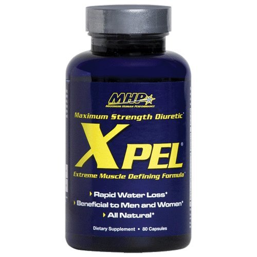 MHP Xpel Dietary Supplement - Maximum Strength Diuretic, 80 Capsules