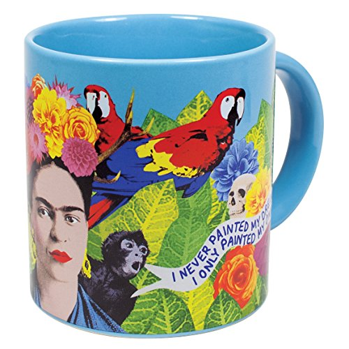 Frida Kahlo Art Coffee Mug - Famous Quotes in English and Spanish - Comes in a Fun Gift ()