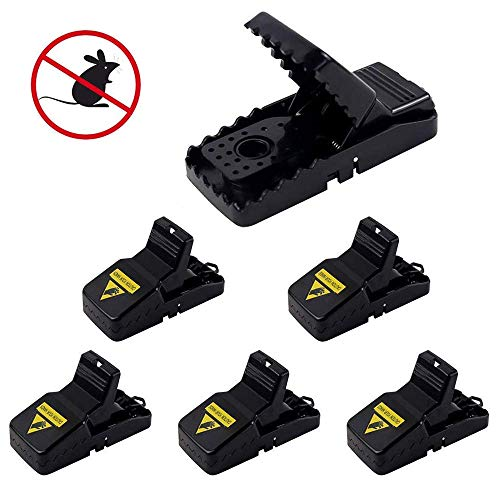 Vennke Mouse Trap, [Upgraded] Quick & Effective Mice Traps That Work Indoor Outdoor Humane Power Rodent Rats Mice 100% Quick Killer Mouse Catcher, Safe Families Pet (6 Pack)