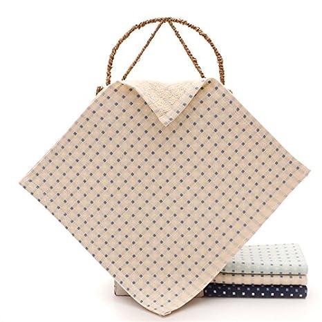 mmynl Pure algodón hilo, cuadrado paños parejas Retro limpiar el sudor toalla cuadrada cuadrado de paños de 34 x 34 cm: Amazon.es: Hogar