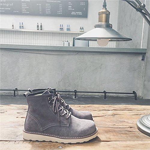 botas botas botas trabajo masculinas y botas coreana 39 PYL botas gris botas botas botas zapatos la botas HL versión de C1xAXwqn
