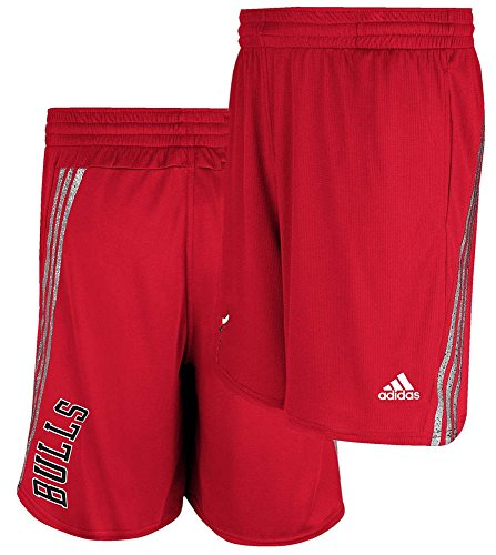 Chicago Bulls Red Tip Off Climalite NBA Performance Shorts by Adidas (Adidas Mens Nba Performance Short)
