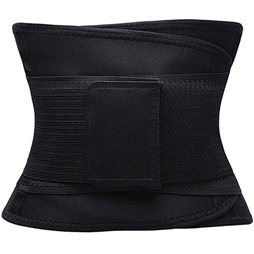 FOUMECH Women's Waist Trainer Belt-Waist Cincher Trimmer-Slimming Body Shaper Belt-Sport Girdle Belt (Black, Large) Photo #7