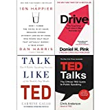 Drive, 10% Happier, Talk Like TED, TED Talks 4 Books Collection Set