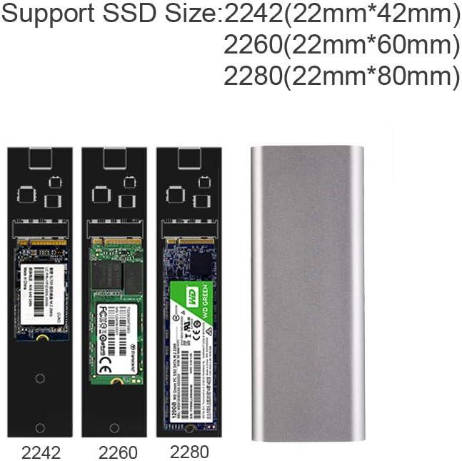 SATA Based Blueendless Aluminum M.2 NGFF to USB 3.1 M.2 SSD Enclosure External SSD Enclosure SATA Based M.2