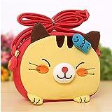 Big Mango Super Cute 3D Cat Design Children Cartoon Messenger Bag Kids Shoulder Bag Crossbody Handbag - Yellow