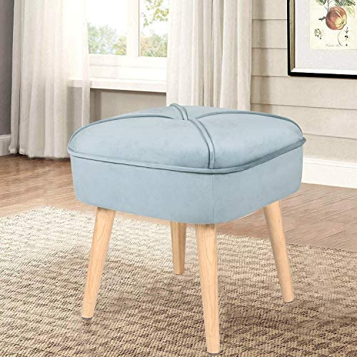 Reviewed: Homebeez Velvet Ottoman Stool Foot Rest Tufted Small Footstool