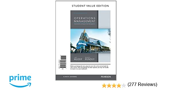 Operations management student value edition 11th edition jay operations management student value edition 11th edition jay heizer barry render 9780132863308 amazon books fandeluxe Gallery
