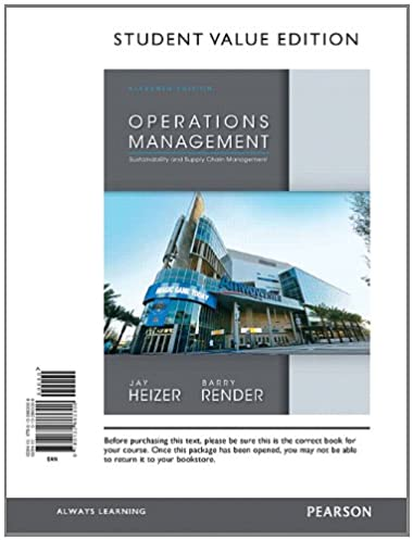 Heizer j operations management solution manual ebook array operations management student value edition 11th edition jay rh fandeluxe Images