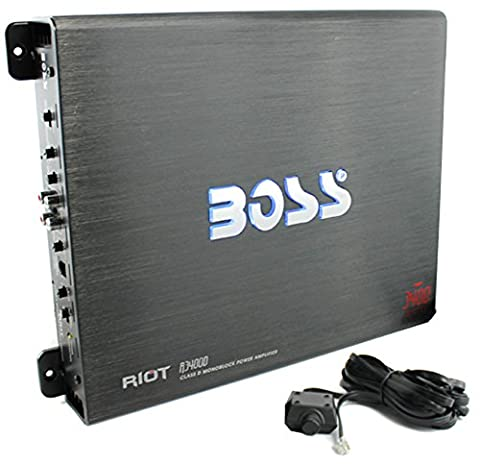 BOSS Audio R3400D Riot 3400 Watt, 1, 2, 4 Ohm Stable Class D Monoblock Car Amplifier with Remote Subwoofer (98 Cherokee Stereo Alpine)