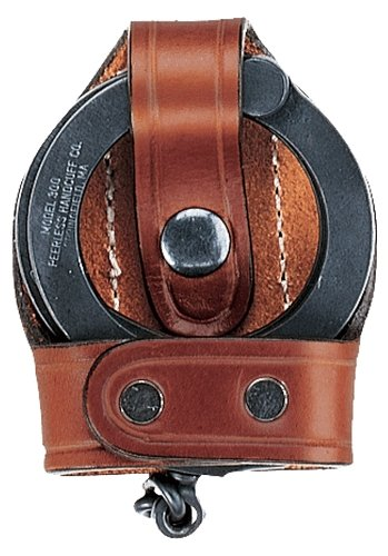 Aker Leather 503 Bikini Handcuff Case, Black, Plain, Fits Most Standard Chain Handcuffs