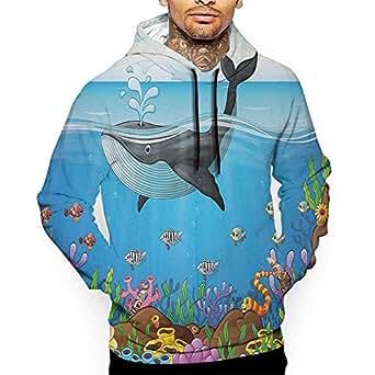Amazon.com: Hoodies Sweatshirt Autumn Winter Whale,A