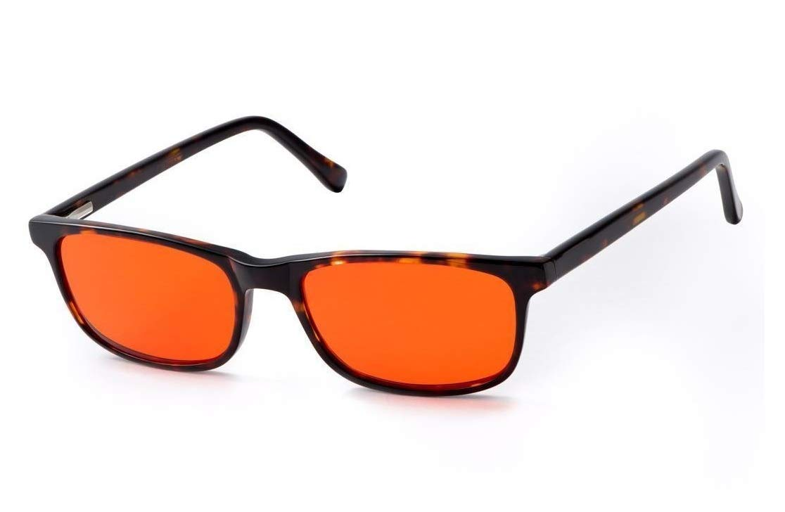 BLUblox Tortoise Shell Sleep+ 100% Blue/Green Light Blocking Glasses