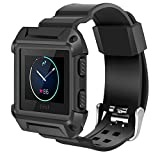 Fitbit Blaze Bands Small Large, iitee Shockproof Slim Protective Frame Case with Strap