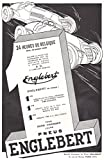 1938 Print Ad Englebert Auto Tires A.D. a Lamelles Mobiles