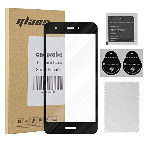 Cadorabo Full Tempered Glass works with Huawei NOVA Full Coverage  Full Screen Protection Film 3D Touch 9H Hardness  Bulletproof Screen Saver in TRANSPARENT with BLACK