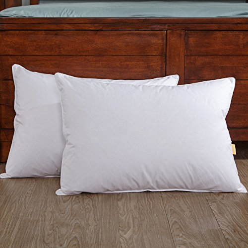 puredown Goose Feather and Down Bed Pillow Inserts for sleep
