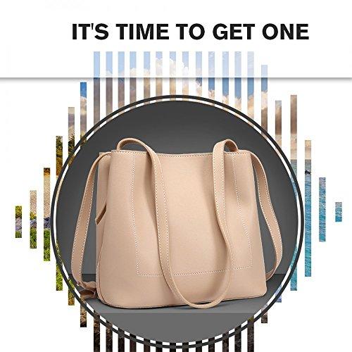 Handbag Designer Bag Women Shoulder beige Leatherette Handbag Casual Large xwqPURHOn1