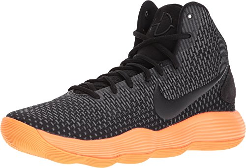 Nike Men's React Hyperdunk 2017 Basketball Shoes (8, Black/Orange/Blue-M)