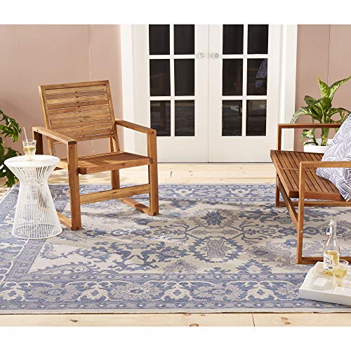 Home Dynamix Nicole Miller Patio Country Ayana Indoor/Outdoor Area Rug 7'9''x10'2'', Traditional Gray/Blue by Home Dynamix (Image #1)