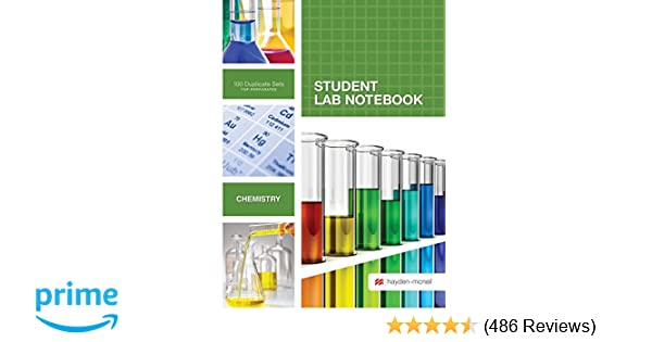 Student Lab Notebook: 100 Carbonless Duplicate Sets  Top sheet