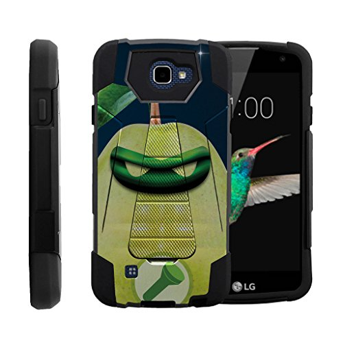 MINITURTLE Case Compatible w/LG K4 |Optimus Zone 3 Case|LG Spree|LG Rebel Case | Shock Fusion Phone Cover w/Stand Superhero Series, Green Pear Lantern