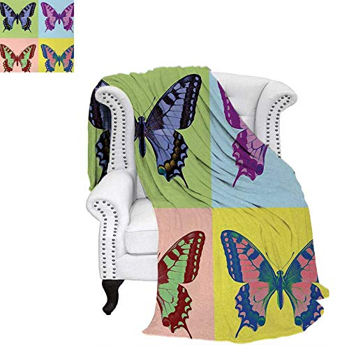 - Digital Printing Blanket Pop Art Swallowtail Pavilions Wild Life Transcendent Energies of Miraculous Wings Summer Quilt Comforter 62