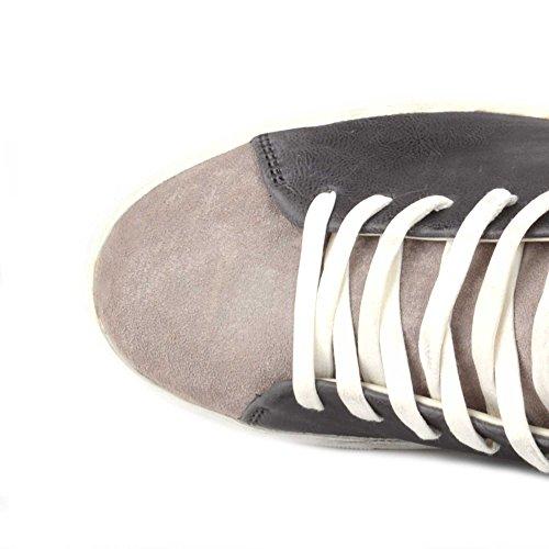 Crime London Scarpe Beat Sneaker in Pelle Anthracite Uomo Anthracite