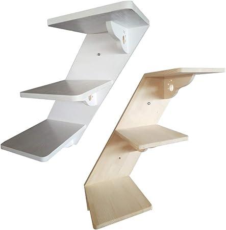 Escalera Mascota RZBAO Gato De Muebles De Madera Pared De La Escalera del Gato De Una Tabla Escaleras Gato Que Salta De Plataforma Ecológicos (Color : White, Size : 57x25x20cm): Amazon.es: Hogar