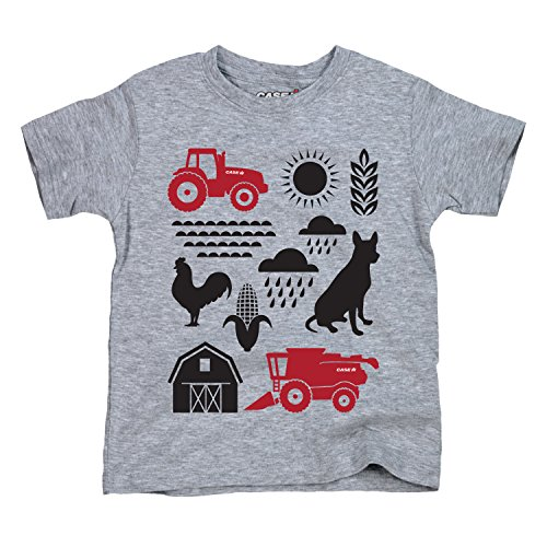 Case IH Elements Farm Culture Icons Barn Rooster Tractor Country Toddler T-Shirt