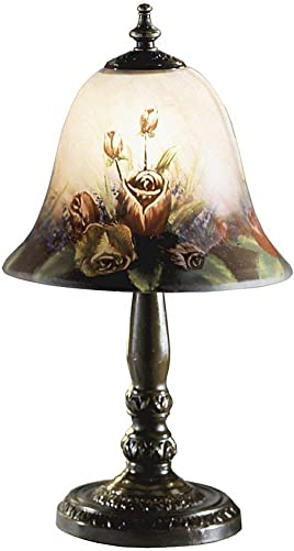 Dale Tiffany 10056 604 Rose Bell Accent Lamp, Multi-Colored