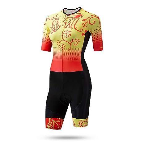 Traje de jersey de ciclismo para mujer Vestido de patinaje ...