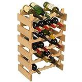 SKB family 24 Bottle Dakota Wine Storage Rack, 17.625'' x 28.375'' x 10.75'' x 8 lbs, Unfinished