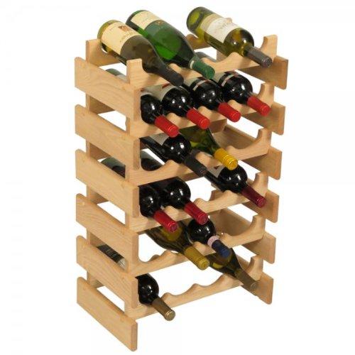 SKB family 24 Bottle Dakota Wine Storage Rack, 17.625'' x 28.375'' x 10.75'' x 8 lbs, Unfinished by SKB family (Image #5)
