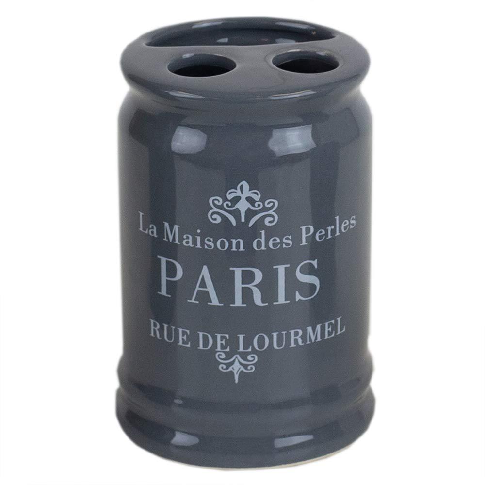 Home Basics French Provincial Paris 4 Piece Bath Bathroom Accessory Set Grey