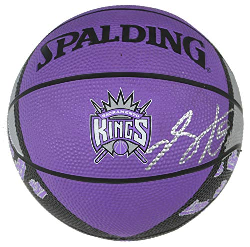 De'Aaron Fox Sacramento Kings Signed Autographed Spalding Kings Logo Mini Basketball