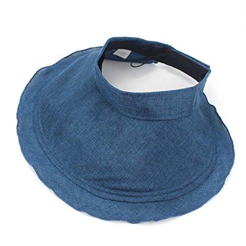 ALWLj mujeres líderes de aire flexible poliéster Sombrero Quitasol  Sunscreen Plegado de verano al aire libre 9e91cc49dc7