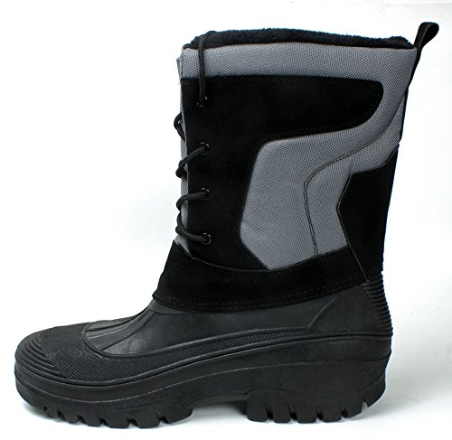 D Boots Waterproof Snow Insulated Winter M Lace Shoes Black620 LABO Men's UP XqzOxt