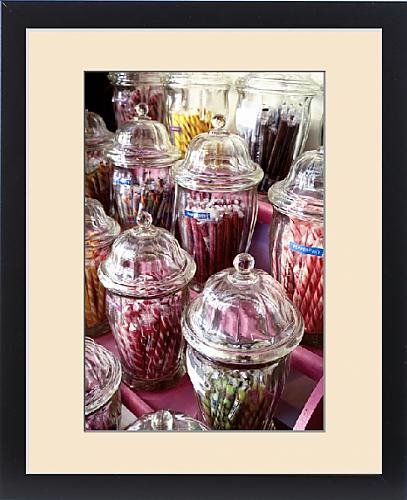 Framed Print of Ouray, Colorado, United States. Vintage candy in old fashioned candy shop