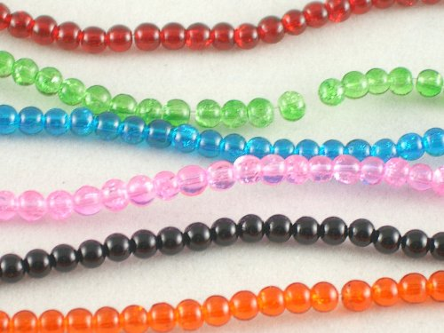 Crackle Glass Beads 4mm - bd3442 - colour choice boxdisplays