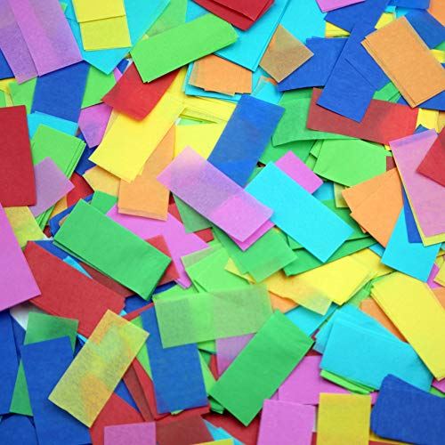 Multicolor Tissue Confetti for Cannons, Launchers, Poppers, Art Projects]()