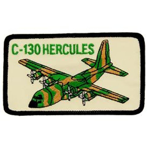 US Air Force Military Iron On Patch - C-130 Hercules Plane Aircraft Applique Logo