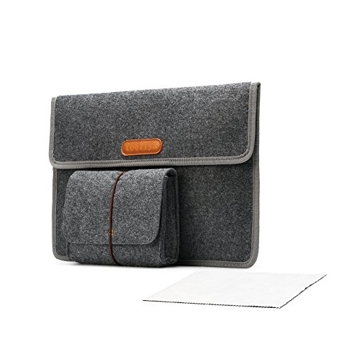 "YEELIYE Laptop Bag 13-13.3 Inch Sleeve Felt Protective Case for MacBook Air/Retina MacBook Pro/Surface Laptop 2017/12.9"" iPad Pro Dell XPS, Lenovo/HP/Chormebook Ultrabook Netbook Carrying Bag, Gray"