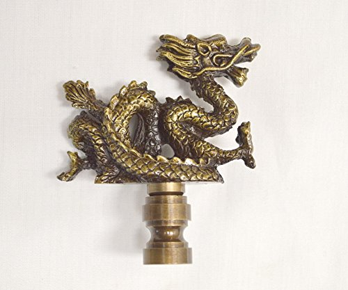 LED4RV Majestic Dragon Finial with Gold/Brass Base