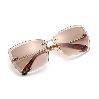 Amazon.com: AEVOGUE Sunglasses For Women Oversized Rimless ...