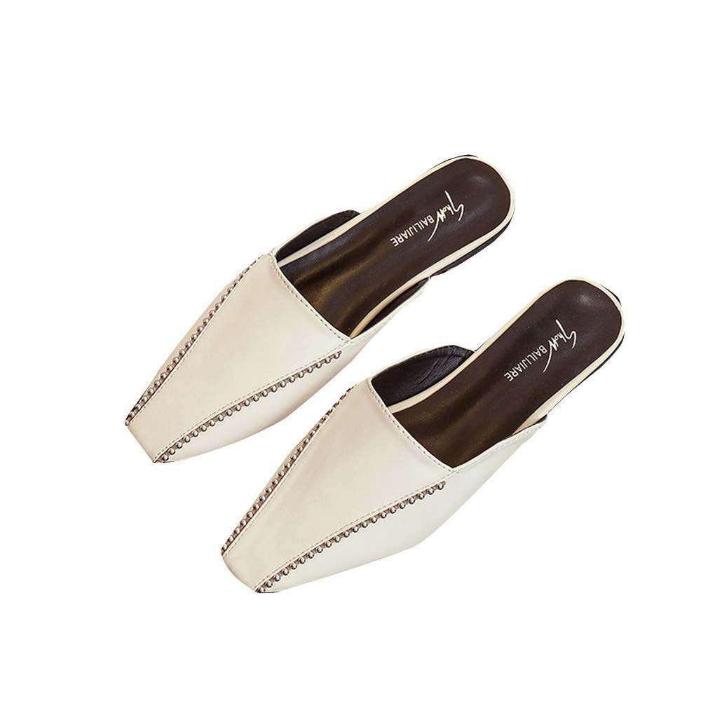 YUCH Chaussons Femmes Chaussons Femmes Rivets Chaussures Plates B07C2SN1M2 Chaussures Paresseux Mi b042ce7 - fast-weightloss-diet.space