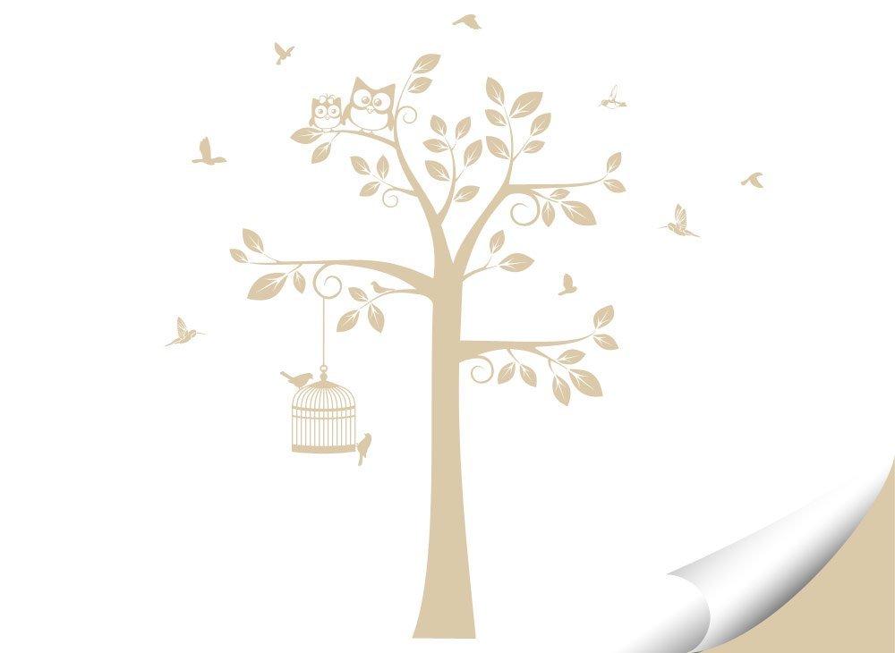 Wandaro Wandtattoo Baum Vögel Vögel Vögel I weiß (BXH) 108 x 160 cm I Kinderzimmer Aufkleber selbstklebend Wandaufkleber Wandsticker Sticker Wandtatoo W3281 B01H7ACVN4 Wandtattoos & Wandbilder 6e5073